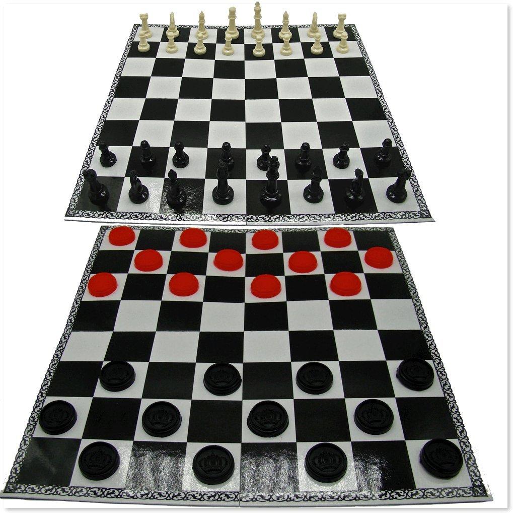 大特価 Checkers andチェスクラシック折りたたみボードゲームセットプラスチックフィギュア12 x 12 x。 Checkers B01MSEIKQ0, すててこねっと:b12d0190 --- cygne.mdxdemo.com