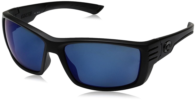 34d487962f04 Amazon.com: Costa Del Mar Cortez Sunglasses, Blackout, Blue Mirror 580  Plastic Lens: Costa Del Mar: Clothing