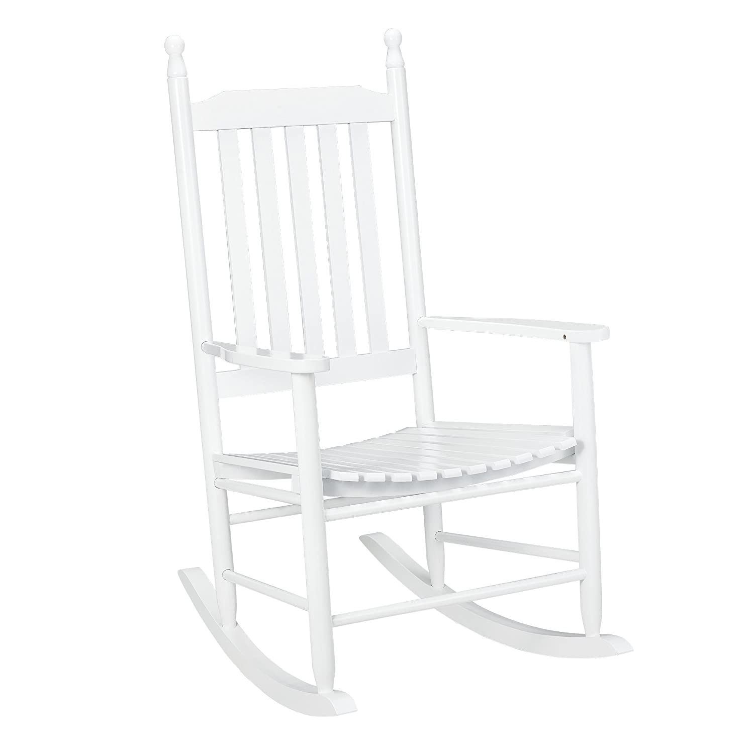 [casa.pro] rocking chair/wooden swinging chair/relaxing / leisure/lounging / seat/WHITE [casa.pro]®