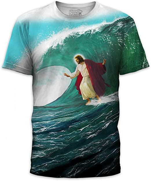 MyPartyShirt hasta la Camiseta de Jesús del Surf Señor Cristo Surf Surf Divertido JC Salvador Mens Adultos (Mens Medium): Amazon.es: Hogar