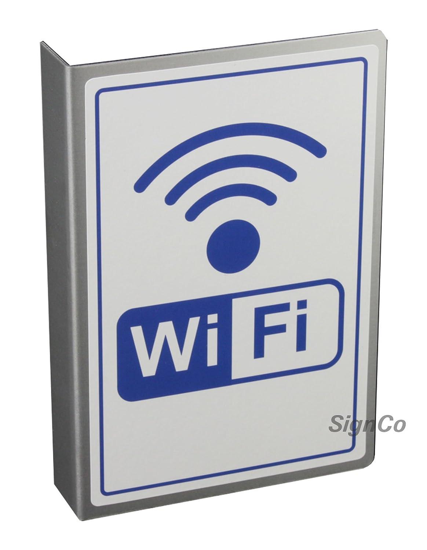 signco - Bandera Schilder Cartel WiFi Hotspot L Aluminio L ...