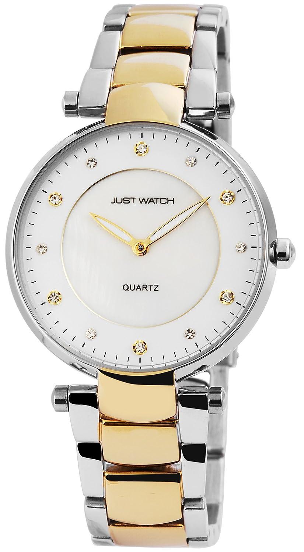 Faltschließe 3 Mit Damenuhr Just Gliederarmband Edelstahl Watch Aus Aqjc4L35R