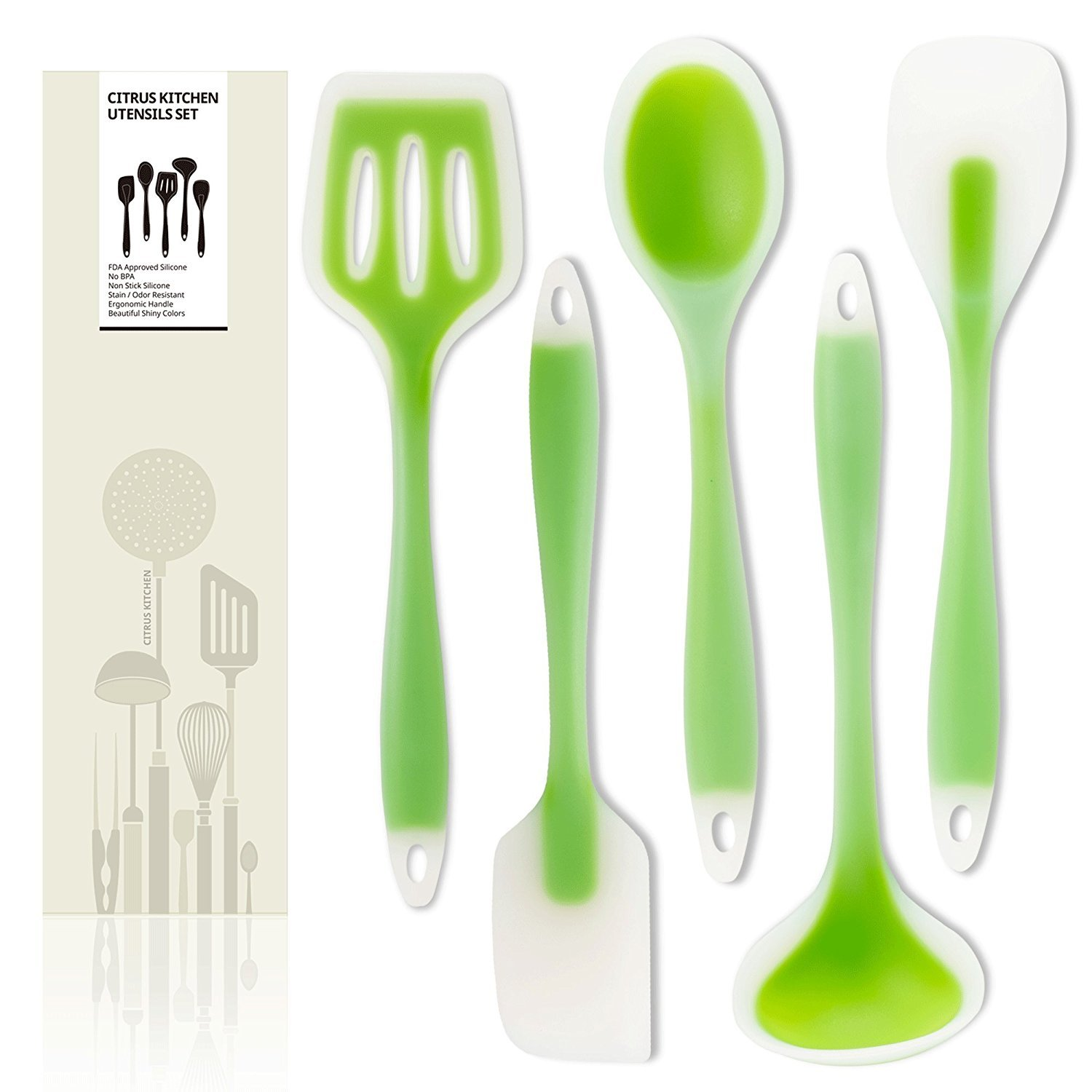 Amazon CitrusKitchen Lime green 5 of sturdy silicone kitchen