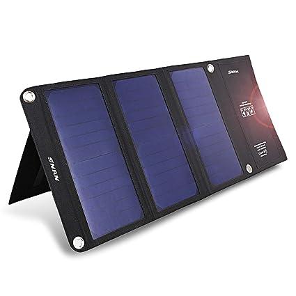 Amazon.com: SNAN 21 W Cargador solar portátil y plegable ...