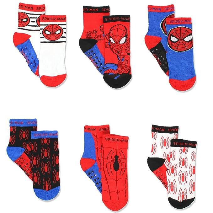 36c97060241f Amazon.com  Super Hero Adventures Spider-Man Boys 6 pack Socks with ...