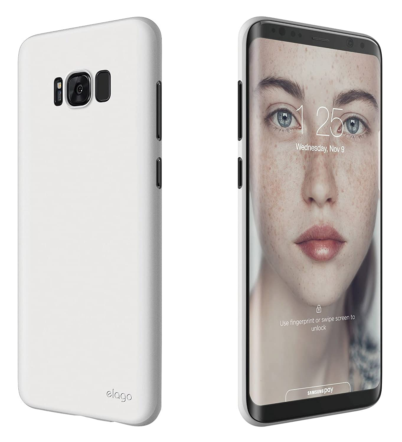 newest collection a3c47 88ed0 elago Galaxy S8 Plus Case [Origin][White] - [Device Fitting  Tested][Minimalistic][Scratch Protection Only][True Fit] - for Galaxy S8  Plus