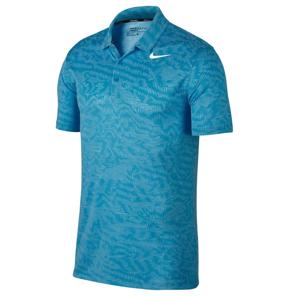 Nike Dry Fitジャカードゴルフポロ2017 B006L9ZMFM Medium|Blue Fury/White Blue Fury/White Medium