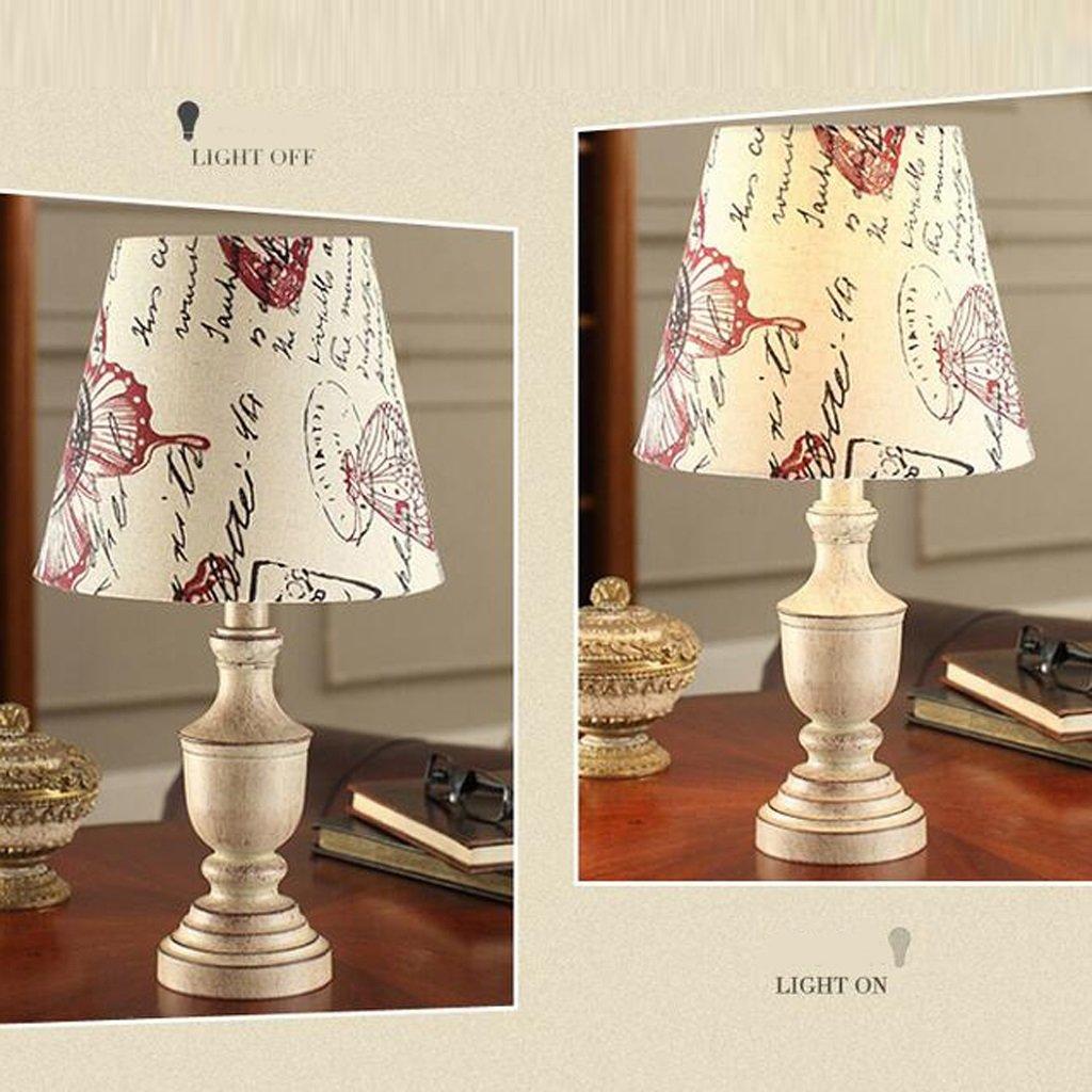 LHP Amerikanisches Land Land Land Schlafzimmerstudie kreative Art und Weise Anlegeplatzlampe Tischlampe antike Kupfer Lampe Europa-Art, die alte Weisen unter Vertrag Energiesparen (Farbe : Bronze) 408935