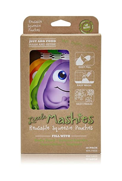 Amazon.com : Super Cute Reusable Baby Food Pouches By Little Mashies ...