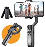 3-Axis Gimbal Stabilizer for Smartphone - 0.5 lbs Lightweight Foldbale Gimbal for iPhone 11 Pro Max/11/Xs Max/XS/XR/X, w…