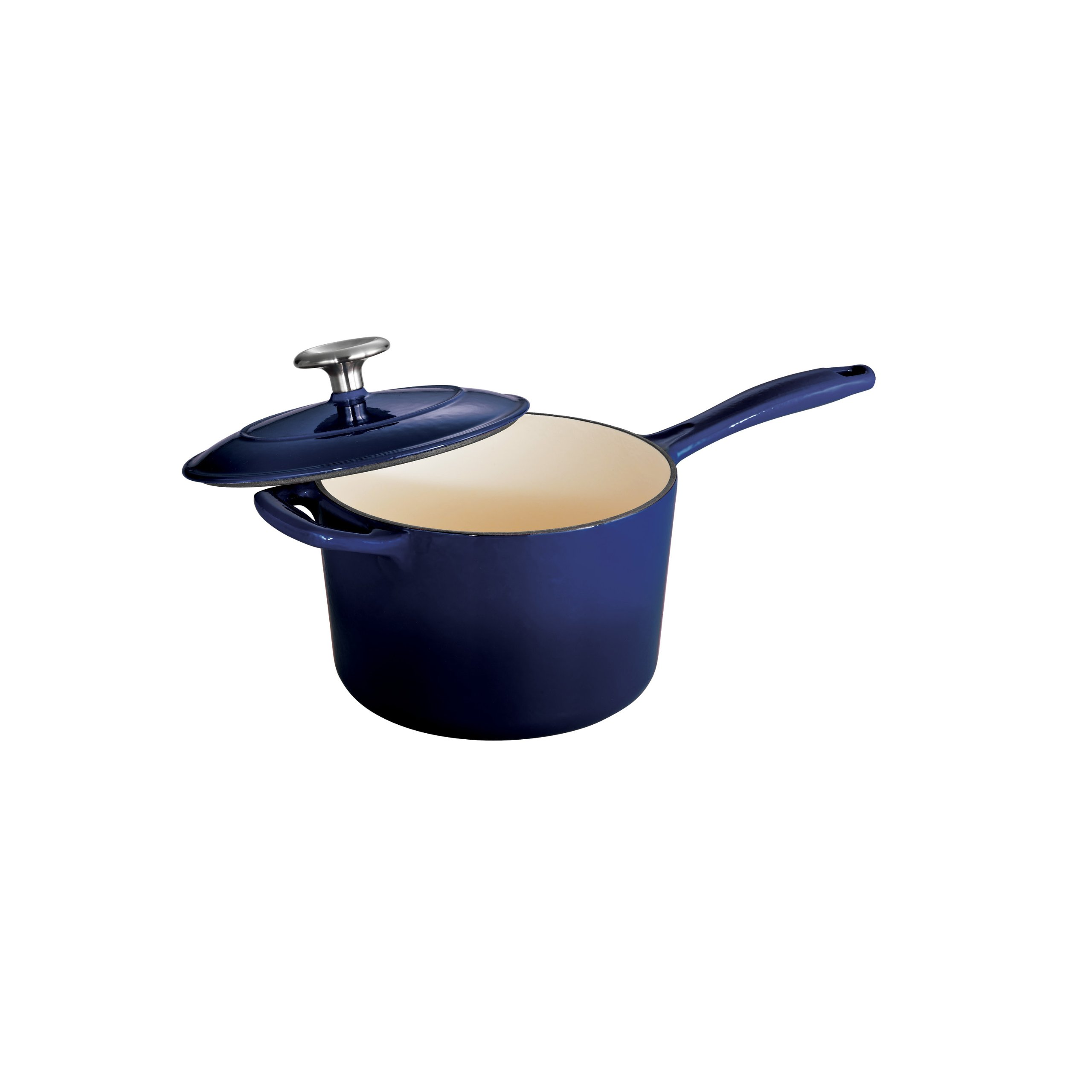 Tramontina Enameled Cast Iron Covered Sauce Pan, 2.5-Quart, Gradated Cobalt by Tramontina (Image #1)