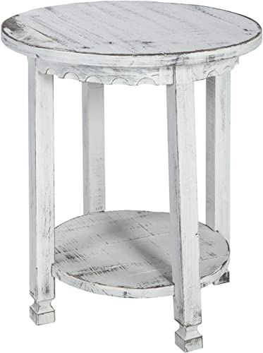 Rustic Cottage Round End Table