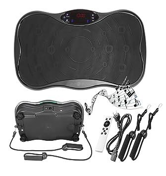 AIMADO Plataformas Vibratorias Maquina de Vibración 200W Trainer Compacto con Pantalla LCD USB para Hacer Ejercicios Musculares Fitness Cardio Perder ...