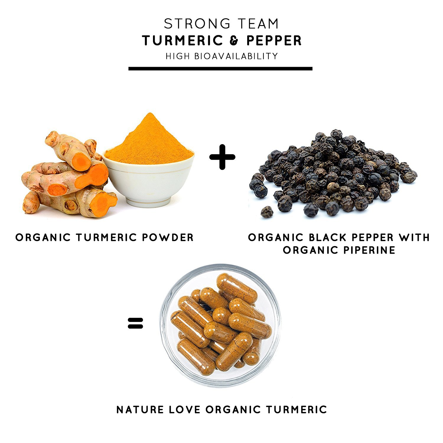 Organic Turmeric Capsules with Curcumin & Black Pepper 3900 mg per daily dose. 240 vegan curcuma capsules. Laboratory tested & certified organic quality. Without magnesium stearate. High strength, vegan, made in Germany