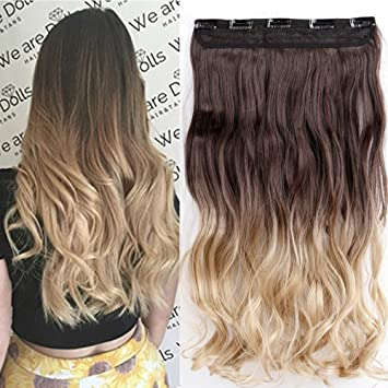 Amazon clearance ombre clip in hair extensions one piece clearance ombre clip in hair extensions one piece 140g thick full head curly wave human made pmusecretfo Gallery