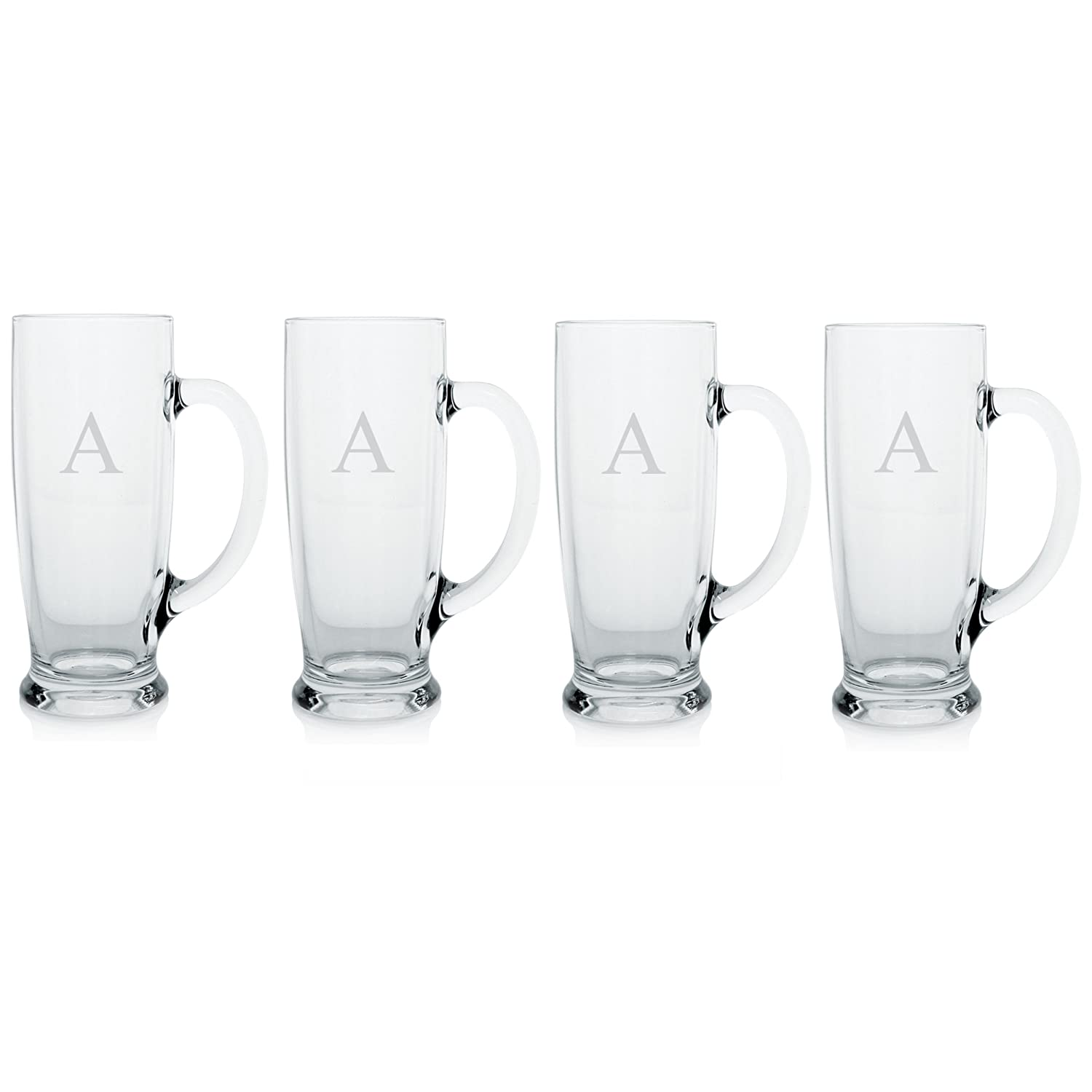 Cathy's Concepts Personalized Craft Beer Mugs, Set of 4, Letter S Cathys Concepts 1282-4S