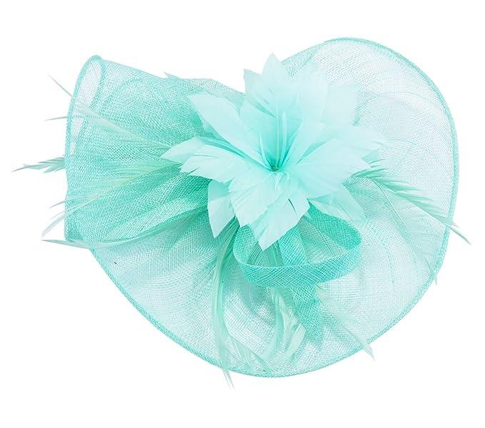 Feather Fascinator Pillbox Hat Kentucky Derby Hat Bridal Headwear ... d43a3012433