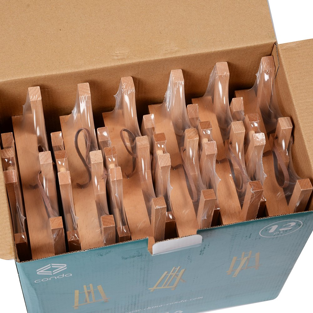 Pack of 12 CONDA 11 inch Tall Medium Tabletop Display Wooden Easel