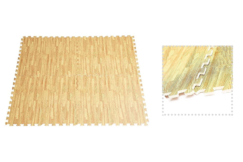 Exxtra Store酷使マット木製色EvaフォームFloorジムマットShow床48 Sq Ft +電子書籍   B07G12MXNT