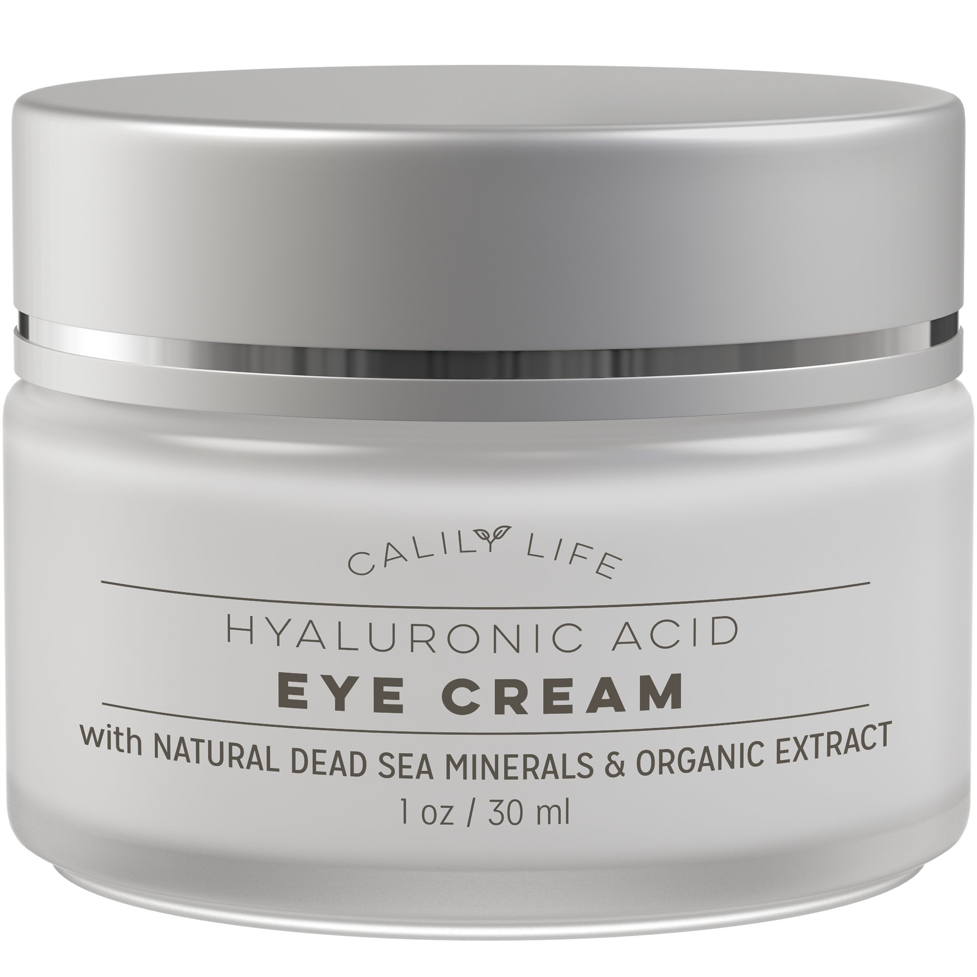 Calily Life Hyaluronic Acid Eye Cream with Dead Sea Minerals, 1 Oz.–Deeply Hydrates, Nourishes Skin & Fights Wrinkles - Minimizes Fine Lines, Reduces Puffiness & Dark Circles, Locks Natural Moisture