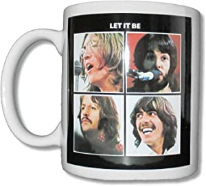 Beatles Let It Be White Ceramic Collectible Coffee Mug