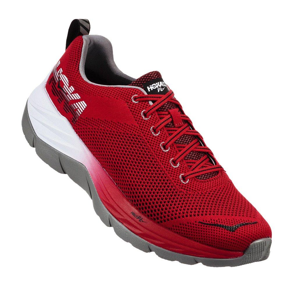 HOKA ONE ONE Men's Mach Running Shoe B071HX8W3W 11 D(M) US|Racing Red/Black