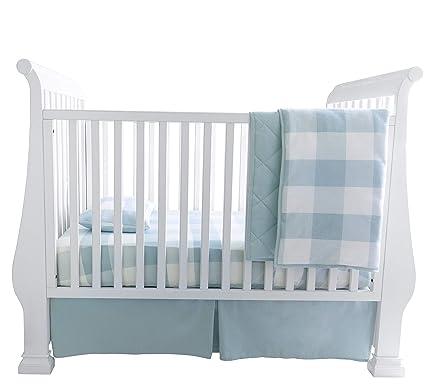 Infant Bedding Set Baby Crib Nursery Quilt Skirt Sheet Bumper Gift Safe Washable