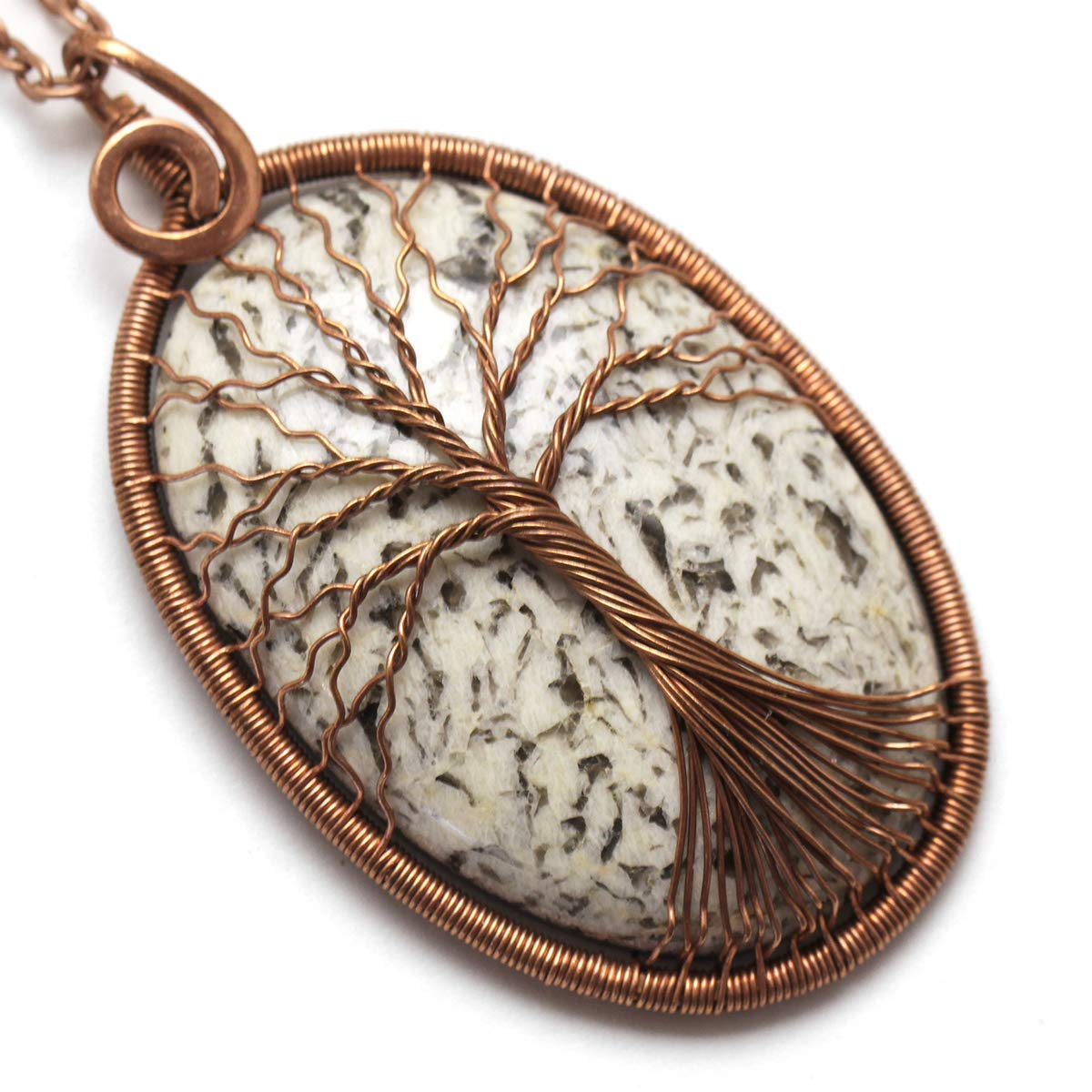 Amazon Com Pegmatite Tree Of Life Necklace Handmade Copper