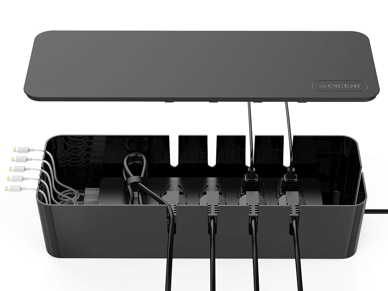 Yardwe STOBOK Kabelbox Kabelmanagement Box Kabelaufbewahrung Kabel Organizer Box f/ür Zuhause B/üro Schreibtisch Fernseher Steckdose Computer USB zum Abdecken und Verstecken
