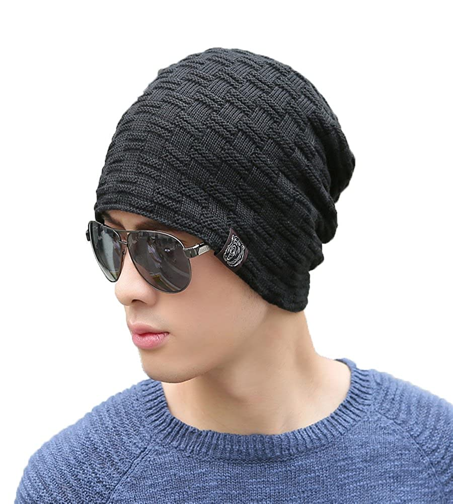 iSweven Unisex Woolen Skull Beanie Cap (Avaialble with 8 Different Designs and Colours, Free Size)