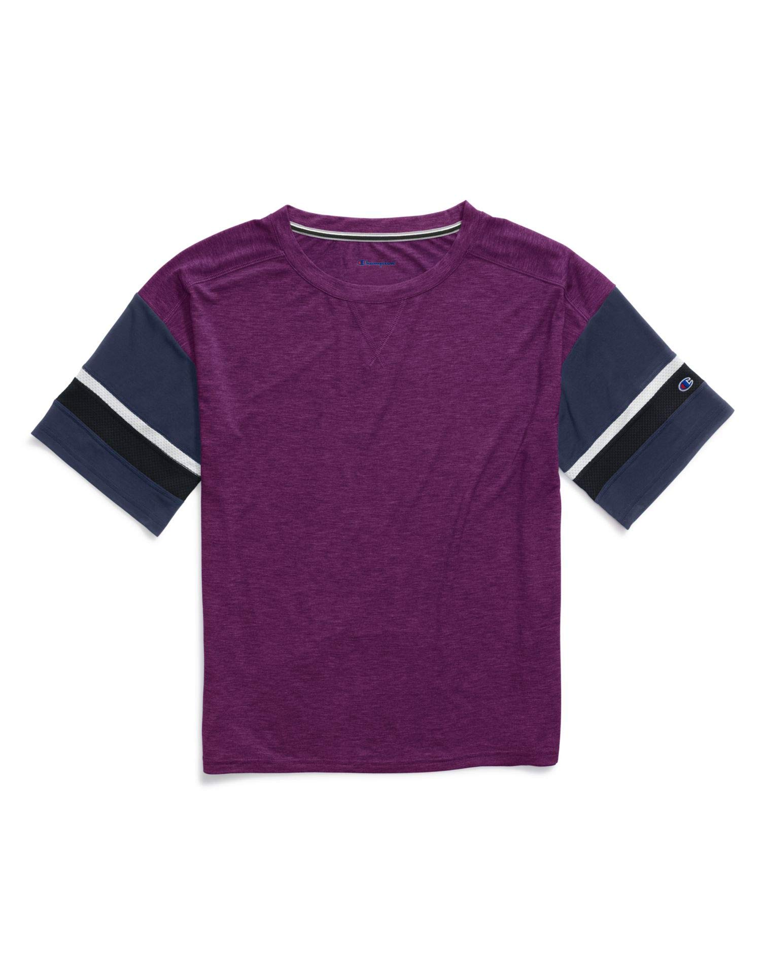 Champion Womens Gym Issue Football Tee, M, Dark Berry Purple Heather