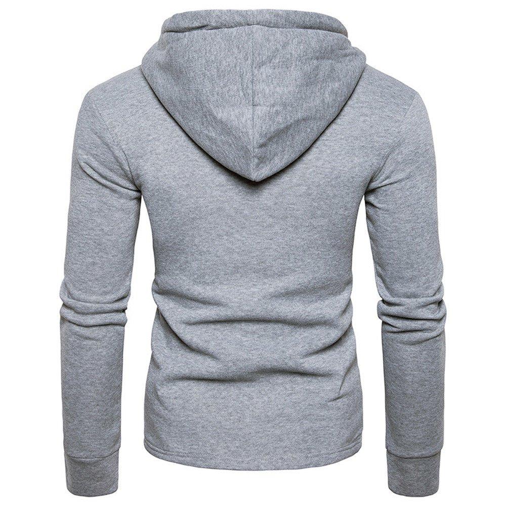 YanHoo Ropa Mens Personality Irregular Coat Casual Hooded Zipper Hoodies Outwear Swearshirt: Amazon.es: Ropa y accesorios