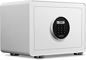 KAPUCI Security Home Safe,Automaticly Door Opening without Handle,Electronic Digital Keypad Safe Box with LCD Screen,Steel Safety Box for Home,Office,Hotel, Business