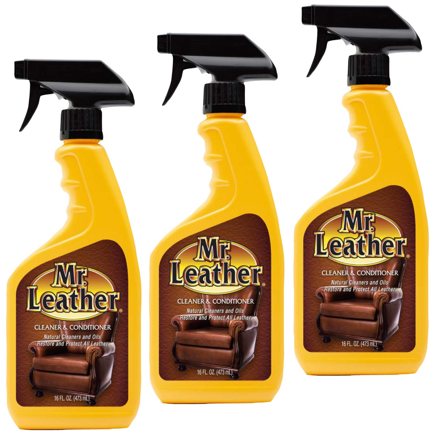 Mr Leather Spray Cleaner and Conditioner 16oz (3) by Mr.Leather