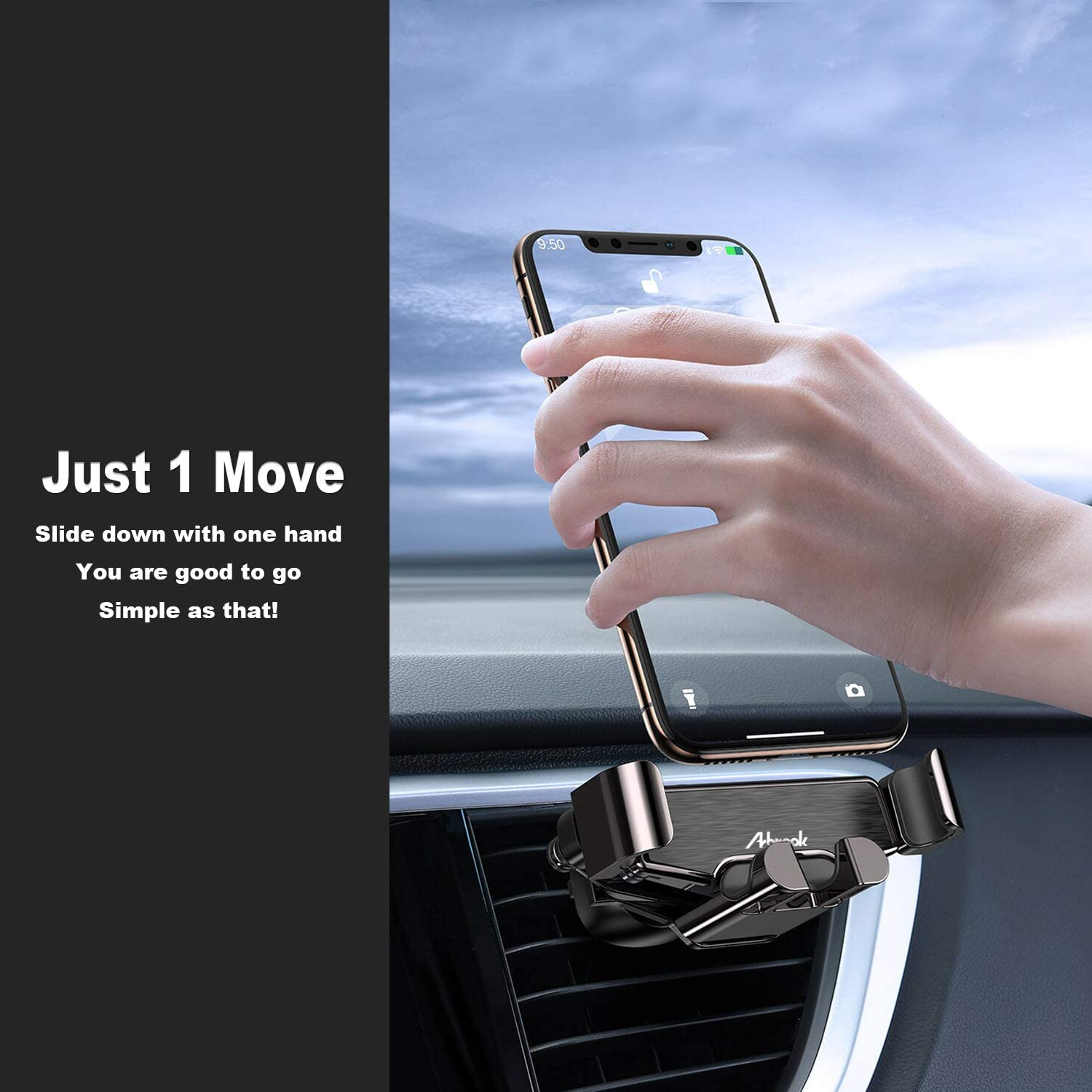 Google Pixel 3 XL Air Vent Gravity Phone Holder for Car Compatible with iPhone 11//11 Pro//11 Pro Max//XS//X//8//7 and More Arbrook Car Phone Mount Samsung Galaxy S20//S10//S10+//S9//S9+