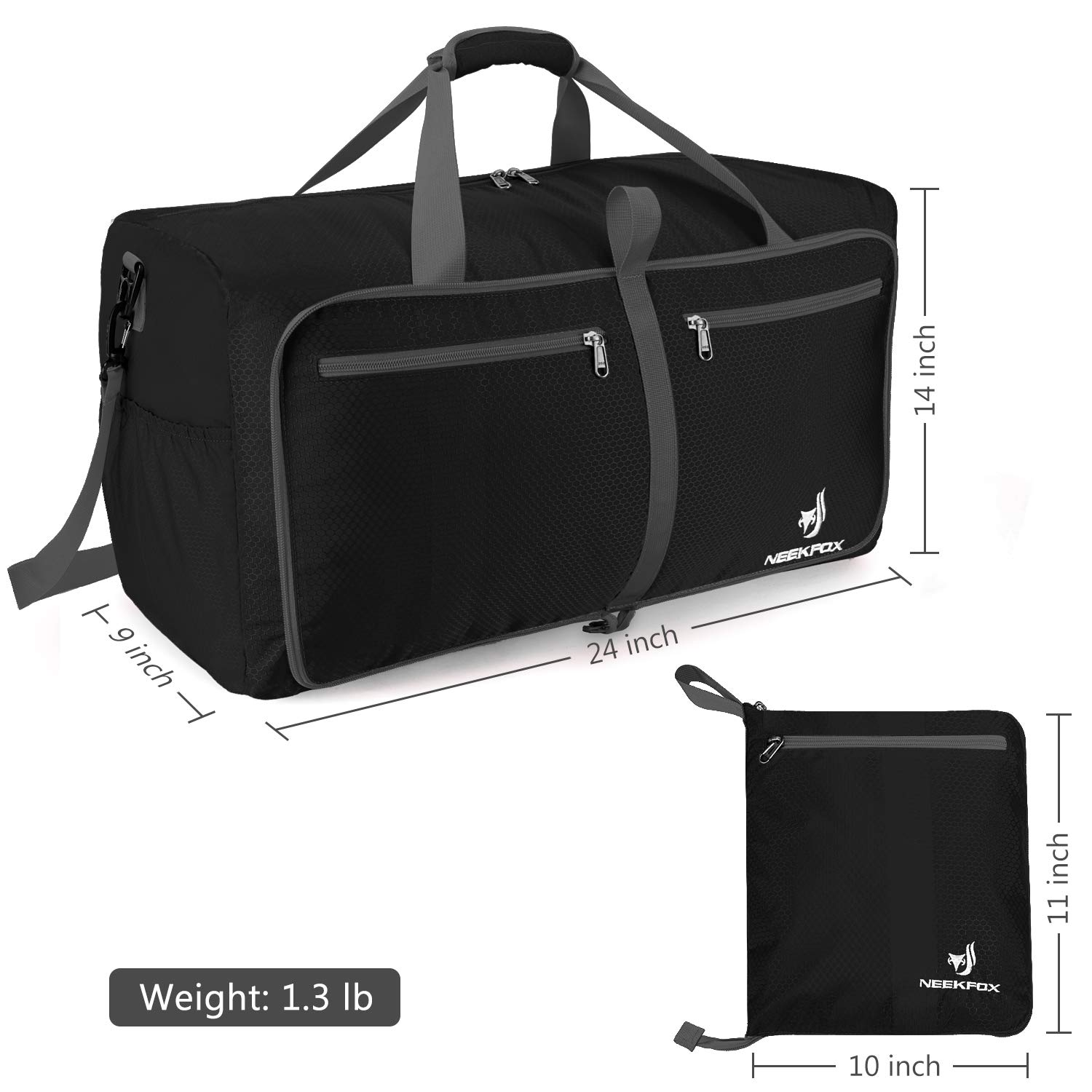 4d5327f73583 Amazon.com  NEEKFOX Foldable Travel Duffel Bag Large Sports Duffle Gym Bag  Packable Lightweight Travel Luggage Bag for Men Women (60L)  Sports    Outdoors