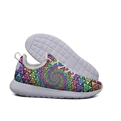 c5c13f0ac3d01 Amazon.com: GHYDGY Geometric Figure Print White Canvas Sneakers Mens ...