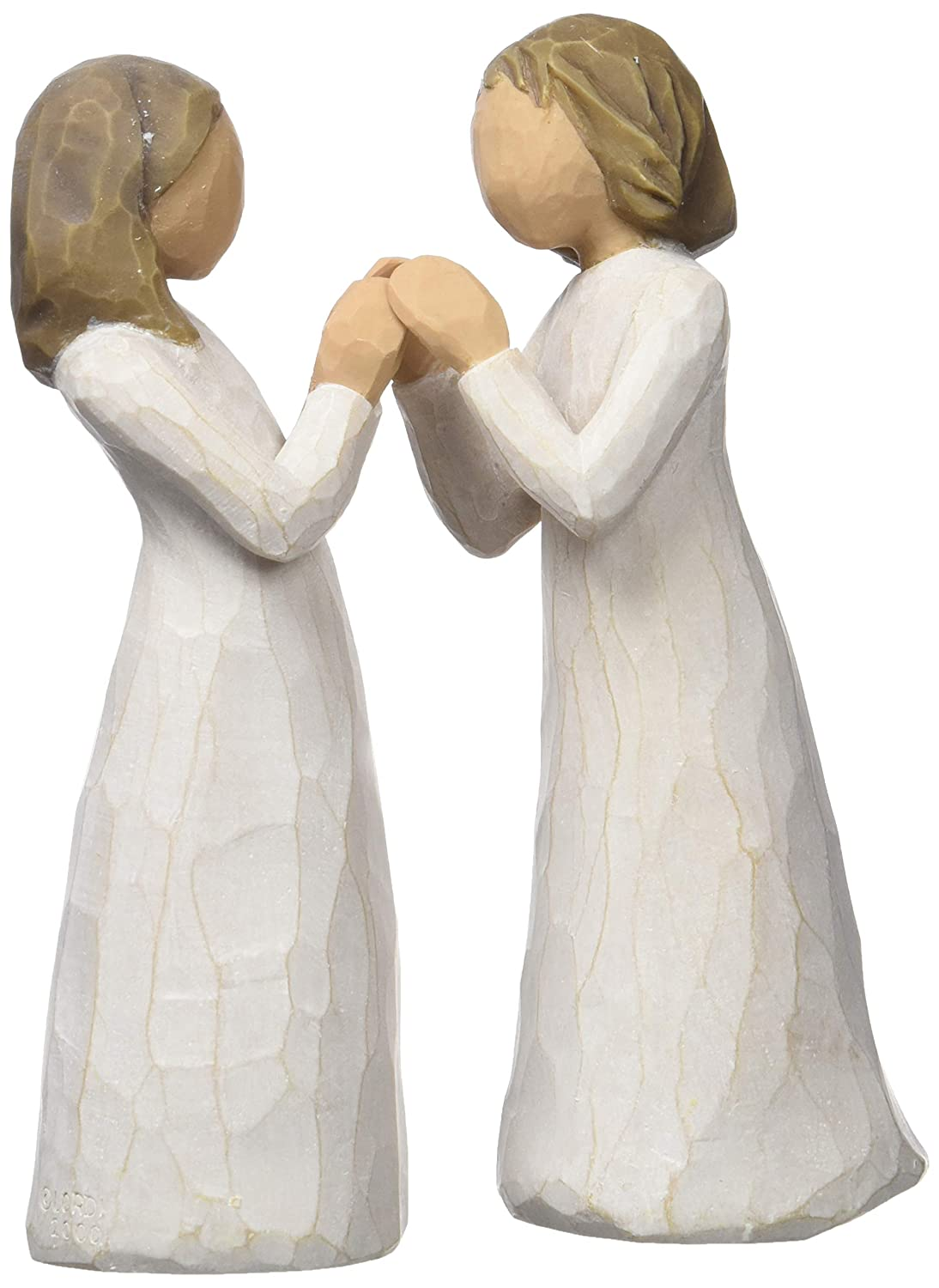 Willow Tree hand-painted sculpted figure, Sisters by Heart, 2-piece set (26023) DEMDACO - Home
