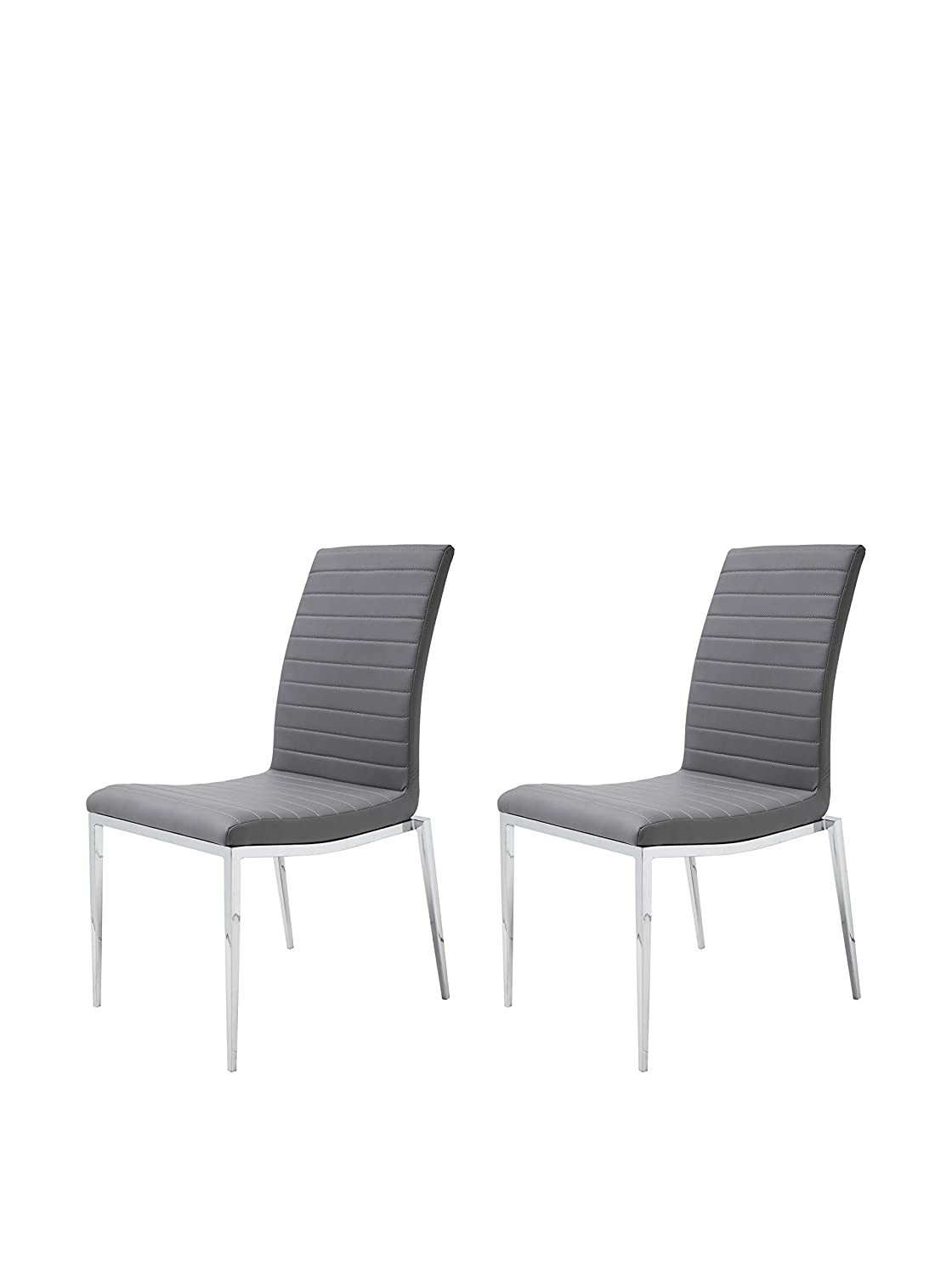 Amazon com zoe dining chair gray set of 2 chairs