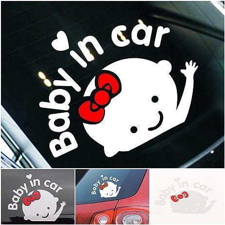 Amazoncom Pc Garnished Unique Baby In Car Window Sticker - Unique car window decals