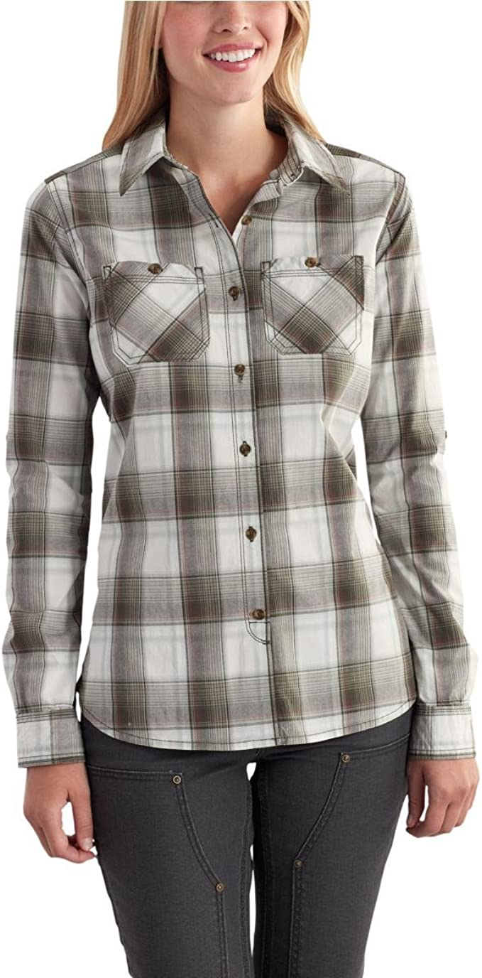 Carhartt Huron - Camisa para mujer - Verde - Large: Amazon ...