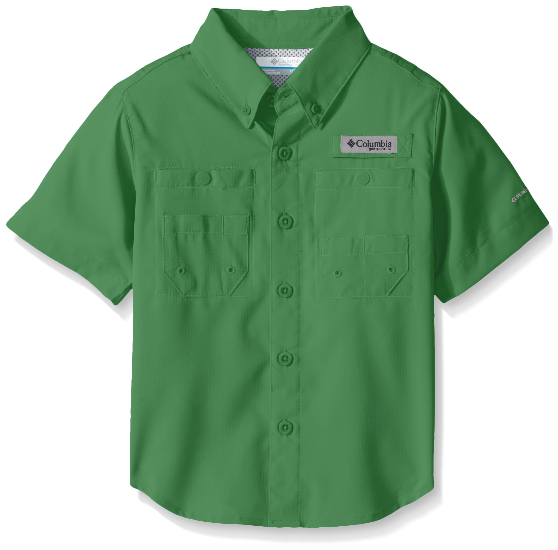 Columbia Boys Tamiami Short Sleeve Shirt, Emerald City, Medium