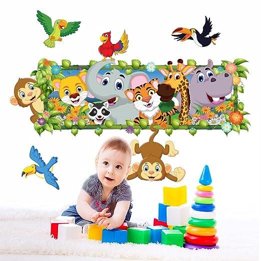 5 opinioni per Wall Art R00263Wall Sticker per bambini giungla della finestra 2, Wallpaper,