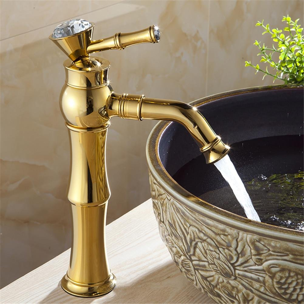 GAOF Modern Gold faucet, gold bathroom faucets, basin mixer taps ...