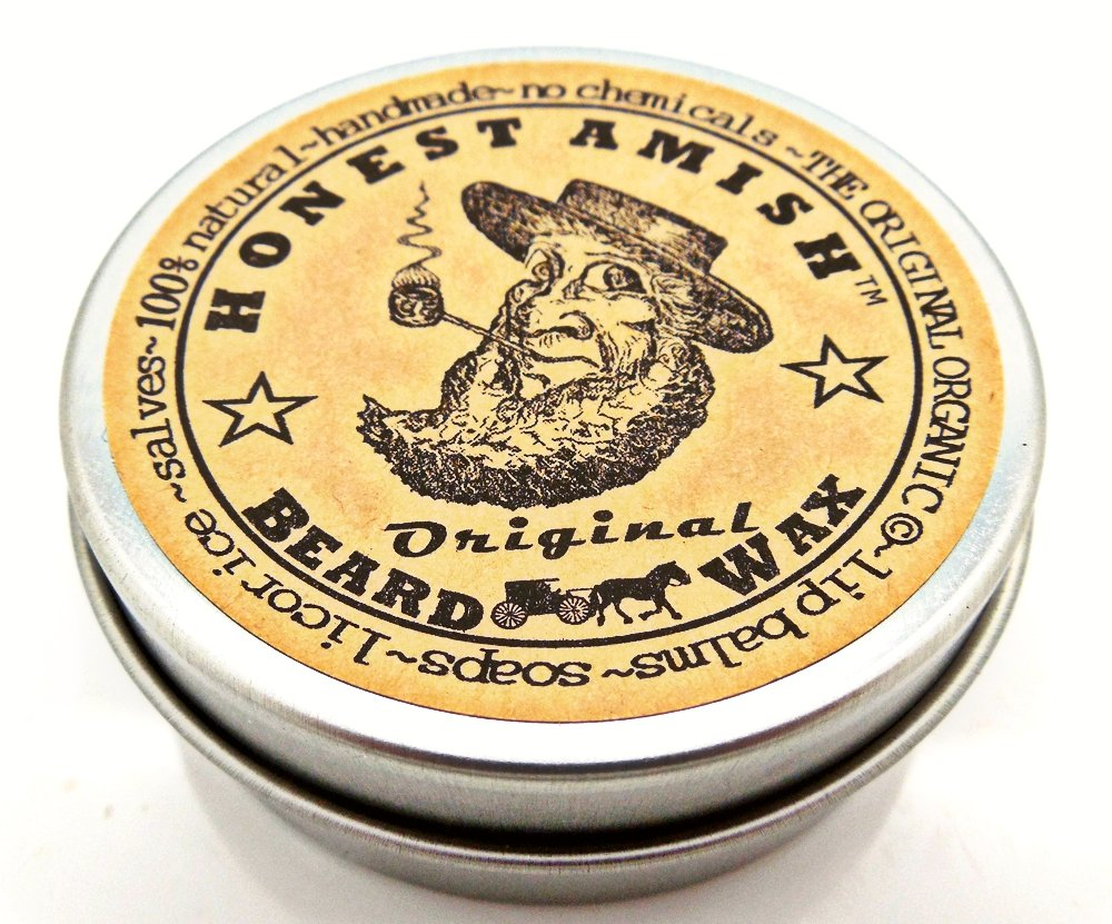 Honest Amish Original Beard Wax - All Natural and Organic