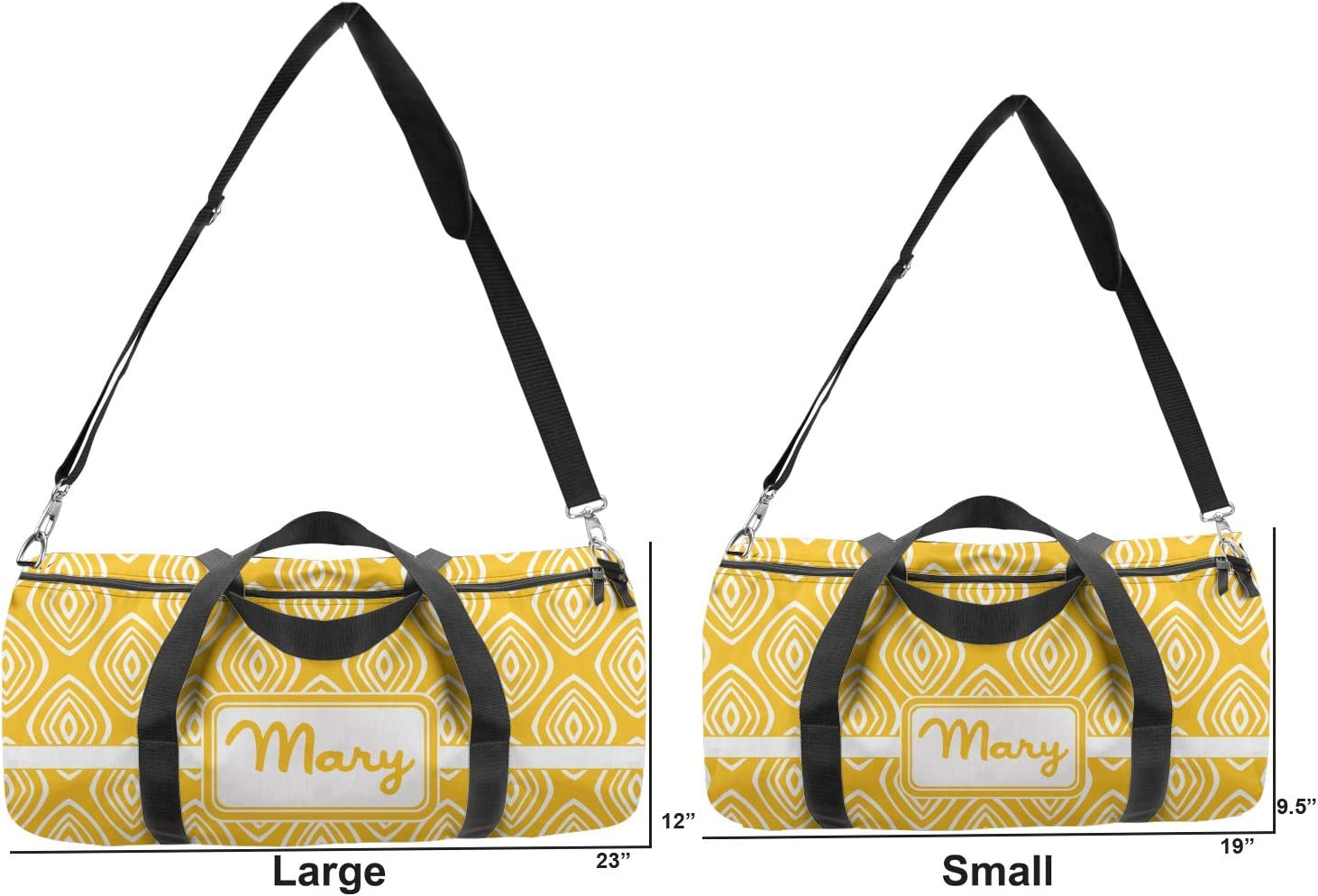 YouCustomizeIt Tribal Diamond Duffel Bag Personalized