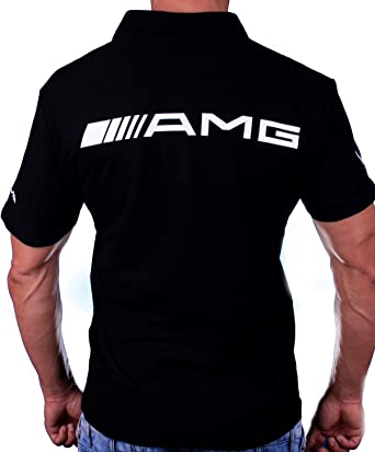 99378cf6d7 Mercedes-Benz AMG T-Shirt Logo Emblem Auto Moto Black Polo Tshirt Mercedes  Small (S): Amazon.co.uk: Clothing