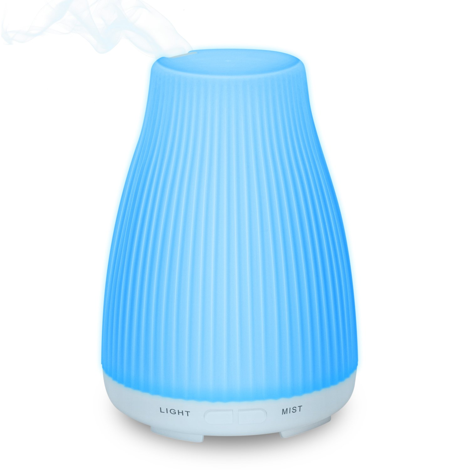 Neloodony 100ml Aromatherapy Essential Oil Diffuser with 8 Colors LED Lights Bpa Free Waterless Auto Shut-Off, (Upgraded Version)
