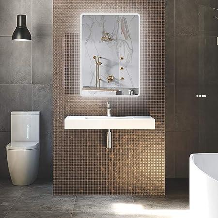 LUVODI Miroir de Salle de Bains avec éclairage LED Intégré ...