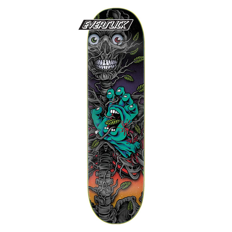 Santa Cruz Skateboard Deck Hand Crew Bio Everslick 8.0 x 31.6